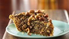 Salted Caramel-Chocolate-Peanut Butter Pie