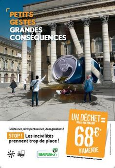 Dijon ville propre Out Of Home Advertising, Creative Advertising, Corporate Communication, Street Marketing, The Office, Ads, Architecture, Workshop, Poster