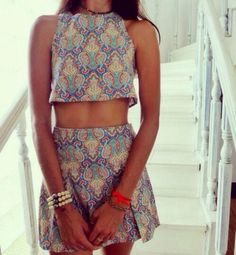 Summer Boho Two-Piece Outfit