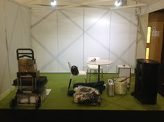 The stand before...... Exeter 2013