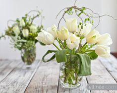 Easy DIY flower arrangement using tape and curly willow | Ellinée | handcraft your life