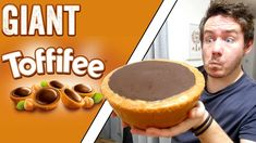 The Toffifee. which is also known as a Toffifay in some places, insanely delicious and a challenge well worth replicating for this super sized giant food rec. Cooking Videos, Cooking Recipes, Giant Food, Food Experiments, Pie Dessert, Cute Food, Cheesecakes, Sweets, Homemade