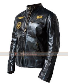 f23f6599598ef7 Rush R30 Biker Black Men s Leather Jacket. Motorcycle ...
