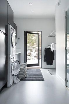 Nice and Wonderful Scandinavian Laundry Room Design Ideas Laundry Room Lighting, Sauna Design, Laundry Room Design, Laundry Rooms, Bathroom Collections, Interior Design Living Room, Home And Family, Room Decor, Design Ideas