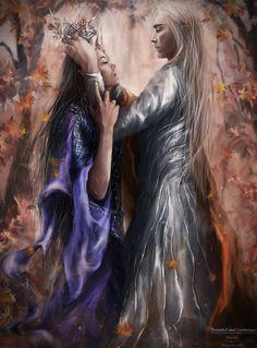 Thranduil and Lanthirwen by Kaprriss