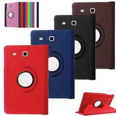 """360 Rotating Case Cover For Samsung Galaxy Tab E 9.6"""" SM-T560 T561 Quality PU Leather Stand Smart Tablet Case Cover Luxury +film"""