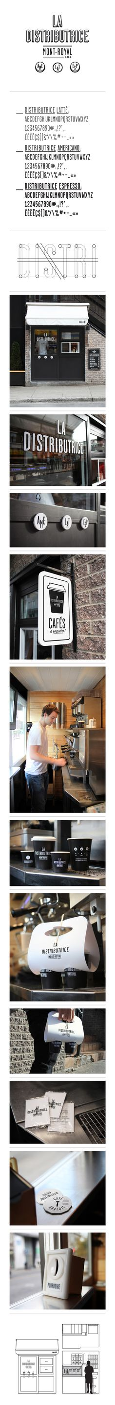 Smallest cafe place in North America, visual identity / Gabriel Lefebvre