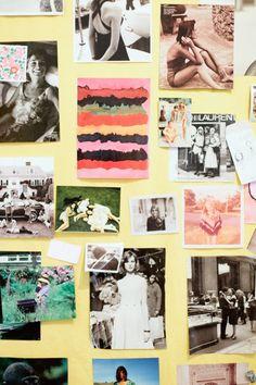 Ann Mashburn's inspiration board (photo by Ali Harper)
