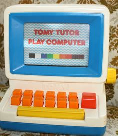 RARE Vintage 80s Tomy Tutor Play Computer 1980s Educational Toy PC Learning Kids | eBay