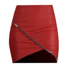 Ivy Short Leather Skirt in Lipstick ($697) ❤ liked on Polyvore featuring skirts, mini skirts, bottoms, real leather skirt, red skirt, leather skirt, short skirts and red mini skirt