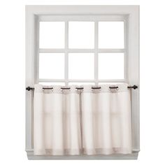 "Montego Casual Textured Grommet Kitchen Curtain Valance White (56""x14"") - No. 918"