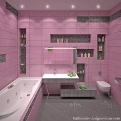 Bathroom Tiles Pink pink tile - painted bathroom tile | dream home | pinterest | pink