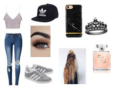 """""""Carmen"""" by caseylouiseipad on Polyvore featuring WithChic, adidas Originals and adidas"""