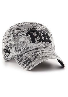 e800187cc2c0d0 '47 Pitt Panthers Mens Black Digital Camo OHT Nilan Clean Up Adjustable Hat,  Black