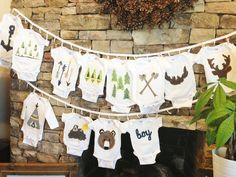 diy stenciled onesies (16) - perfect for my baby shower