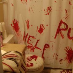 scary halloween bathroom decor - Halloween Bathroom Decorations