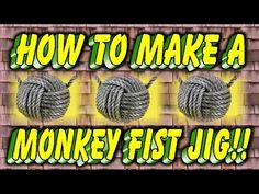 How we drill holes in our mini Monkey fist Jigs - YouTube
