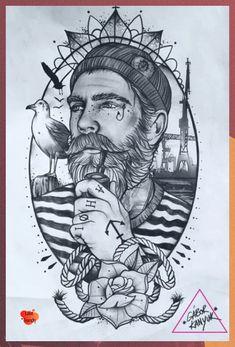 Kunst Tattoos, Bild Tattoos, Leg Tattoos, Sleeve Tattoos, Tattoo Designs Foot, Old School Tattoo Designs, Old School Tattoos, Tattoo Sketches, Tattoo Drawings