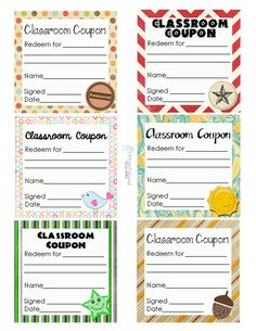 Classroom Coupon Template  Google Search   Pinteres