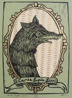 Beautiful linocut!