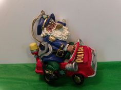 Santa Claus Police Officer Christmas Tree Ornament Collectible Gift