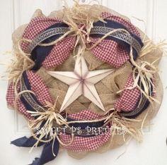 Shabby Western Wreath by SweetPsPretties on Etsy, $60.00