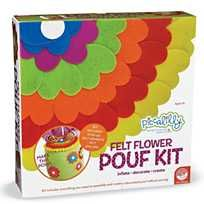 Another great find on Piccalilly Felt Flowers Pouf Kit Creative Activities For Kids, Creative Kids, Art And Craft Materials, Pom Pom Rug, Pom Pom Maker, Room Accessories, Oriental Trading, Felt Flowers, Flower Making
