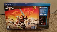 Disney Infinity 3.0 Star Wars Saga Bundle Includes Boba Fett. PS4 Brand new.
