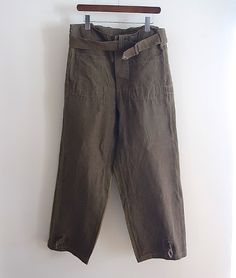 LILY1ST VINTAGE 1940-1950'S FRENCH MILITARY LINEN MOTERCYCLE TROUSERS http://floraison.shop-pro.jp/?pid=71441136