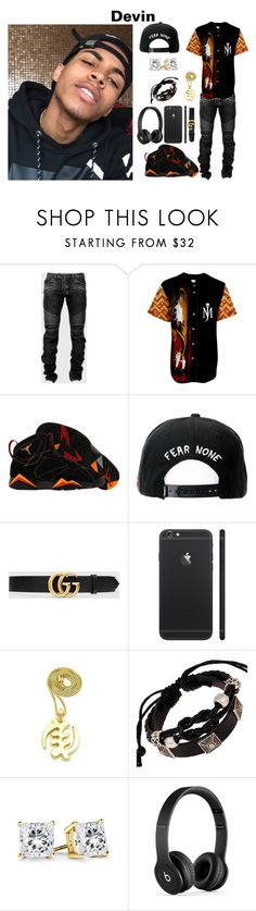 """Chapter 12-14 (Devin)"" by sydney-ms ❤ liked on Polyvore featuring Balmain, NIKE, Trukfit, Gucci, Beats by Dr. Dre, men's fashion and menswear"