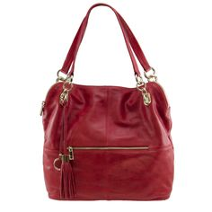 Manhattan Leather Slouch Tote in Red - $249.00   Check it out at: http://www.bagaholics.com.au/leather-bags-c6/manhattan-leather-slouch-tote-in-red-p593/