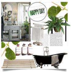 Happy Day Sanctuary by clotheshawg on Polyvore featuring polyvore interior interiors interior design home home decor interior decorating Nearly Natural Iris Hantverk