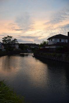 Sunset glow at Tagoe-bashi, Zushi.