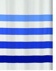 Spirella 10.16270 Shower Curtain 180 x 200 cm Textile Four Blue: Amazon.co.uk: Kitchen & Home