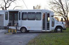 Goshen 2008 Ford E-350 Commercial Wheelchair Bus For Medical Transport - 89,000 Miles. Used Buses for Sale at link. School, Passenger, Greyhound and VW, Volkswagen Buses for Sale.  Flower Power.  Bus conversion or converted, buses turned into homes & Campers. #vwbug, #vwcamper, #volkswagen.