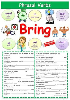 """PHRASAL VERBS """"BRING"""" worksheet - Free ESL printable worksheets made by teachers"""