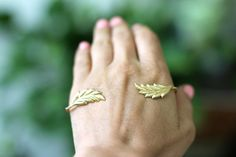 Geneva Palm Bracelet Gold Leaves Palm Cuff Boho by avigailadam, $50.00