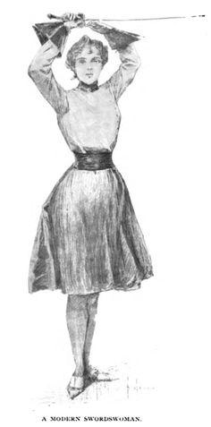 A Modern Swordswoman  From Munsey's Magazine, 1897