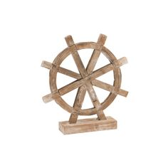 Wooden Ship Wheel Decor ($25) ❤ liked on Polyvore featuring home, home decor, distressed home decor, wooden home decor, distressed wood home decor and wood home decor