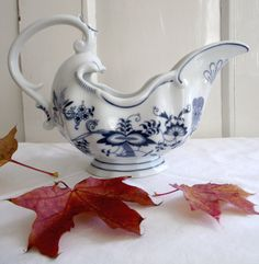 Mid Century Blue Danube Gravy Boat  HUGE by LongTallSallys on Etsy, $50.00