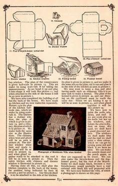 Putz-style house - pattern & tutorial