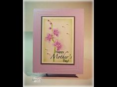 Embossed Orchid Card - stampTV