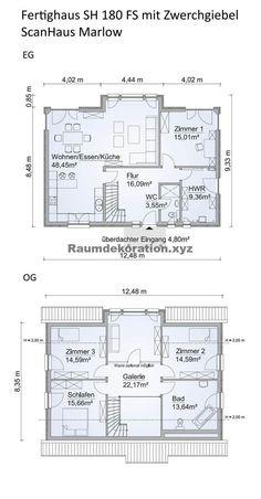 Architektur Ideen - Grundriss Einfamilienhaus Neubau modern mit Satteldach Architektur, Zwerchgiebel... #architecture #architekten #architektur #architekturideen #ArchitekturIdeen
