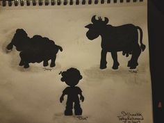 Silhouettes for my Nursery Rhyme Characters (Little Boy Blue)
