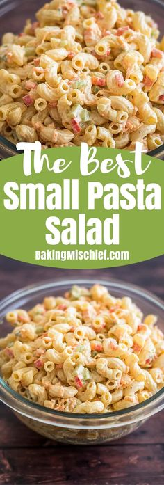 This Small Macaroni Salad is the perfect simple side for small get-togethers and dinners with friends! Side Dish Recipes, Pasta Recipes, Dinner Recipes, Cooking Recipes, Healthy Recipes, Simple Salad Recipes, Cooking Videos, Healthy Food, Healthy Eating