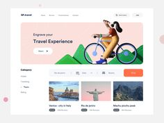 travel app experience designed by Sudhan Gowtham . Connect with them on Dribbble; Event App, Venice City, Branding, Educational Websites, Website Design Inspiration, User Interface Design, App Ui, Business Website, Show And Tell