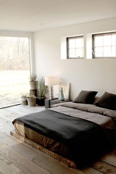 simple/minimalist/rustic/modern.  This room got all my taste