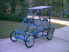 """american_speedster PVC Pedal Car $18 for plans & 2 re-cycled 20"""" bicycles"""