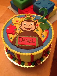 Curious George cake. Www.cakesbynadia.weebly.com Curious George Cakes, Curious George Party, Adult Birthday Cakes, 2nd Birthday Parties, Birthday Ideas, Little Boy Cakes, Cakes For Boys, Circus Party, Cupcake Cakes