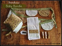 Farmhouse Baby Bundle Gift Set by IvyandCompany on Etsy